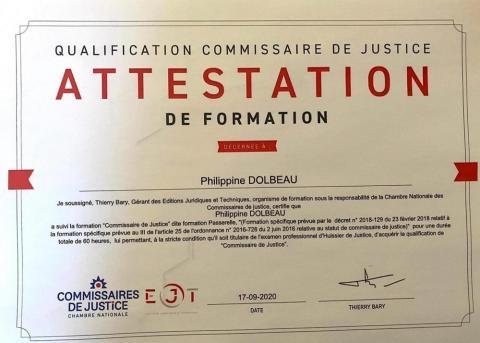 Portrait I Me Philippine POUZET-DOLBEAU devient Commissaire de Justice